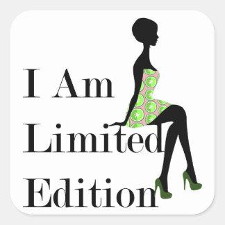 Sticker Carré Silhouette de mode je suis citation d'édition