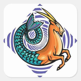 Sticker Carré sirène de Capricorne