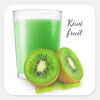 Sticker Carré Smoothie de kiwi
