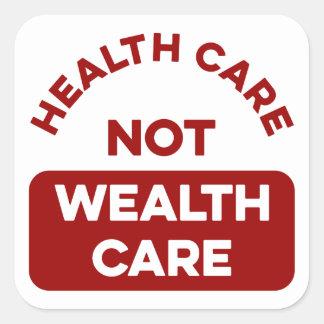 Sticker Carré Soin de richesse de soins de santé pas