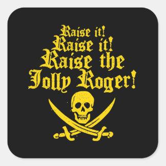 Sticker Carré Soulevez le jolly roger