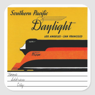 Sticker Carré Southern Pacific Daylight