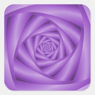 Sticker Carré Spirale violette