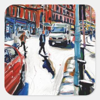 Sticker Carré St Dublin de Georges