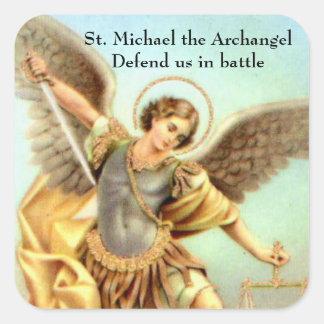 Sticker Carré St Michael l'armure d'épée d'Arkhangel