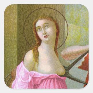 Sticker Carré St rose Agatha (M 003)