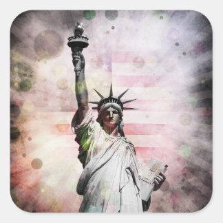 Sticker Carré Statue de la liberté