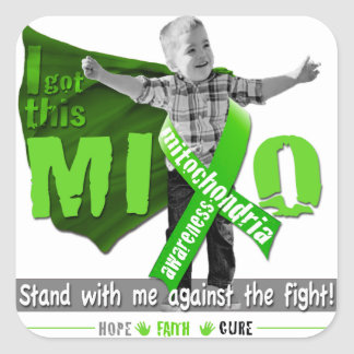 Sticker Carré Support de conscience de Mito avec moi