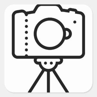 Sticker Carré Support de trépied d'appareil-photo