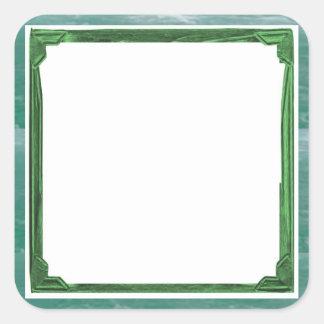 Sticker Carré Support d'image/textes de frontière de vert de mer