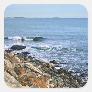 Sticker Carré Surf de la Nouvelle Angleterre