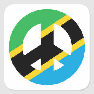 Sticker Carré Symbole de paix tanzanien