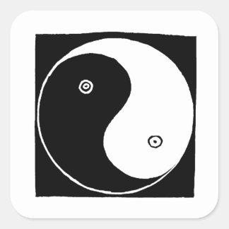 Sticker Carré Symbole de Yin Yang de Chinois