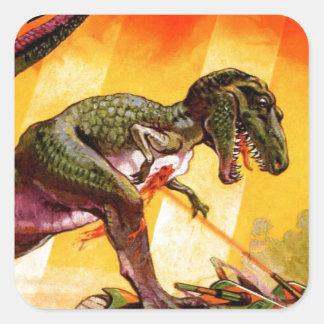 Sticker Carré T-Rex contre le réservoir de Sherman