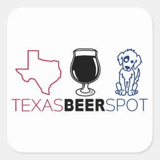 Sticker Carré Tache de bière du Texas