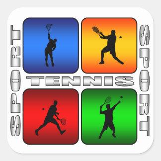 Sticker Carré Tennis spectaculaire (mâle)