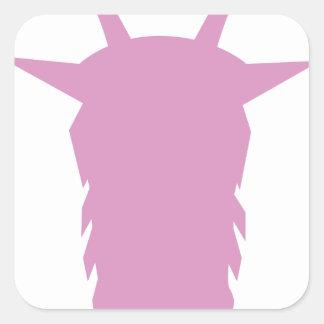 Sticker Carré Tête de chèvre
