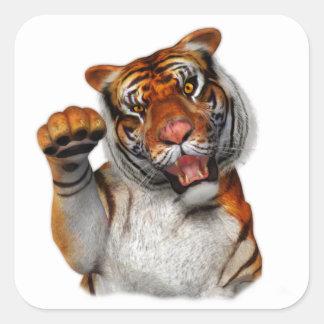 Sticker Carré Tigre, tigre