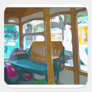 Sticker Carré Tour de chariot à Key West