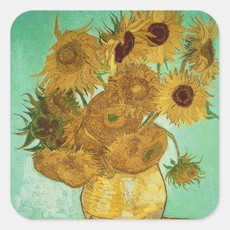 Sticker Carré Tournesols de Vincent van Gogh |, 1888
