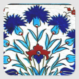 Sticker Carré Tuiles turques abstraites florales antiques