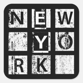 Sticker Carré Typographie grunge de Bronx New York |