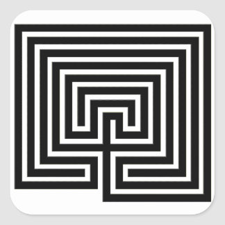 Sticker Carré Un labyrinthe pour coller avec vous -