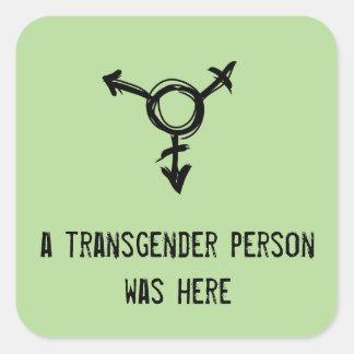 Sticker Carré une personne de transsexuel était ici