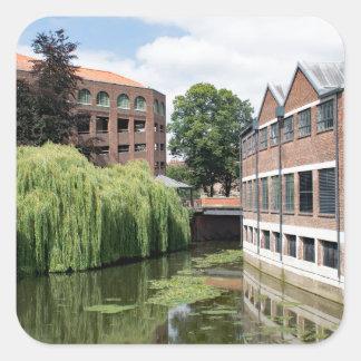 Sticker Carré Une vue de la rivière Foss à York