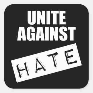 Sticker Carré Unissez contre la haine