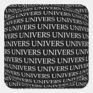 STICKER CARRÉ UNIVERS