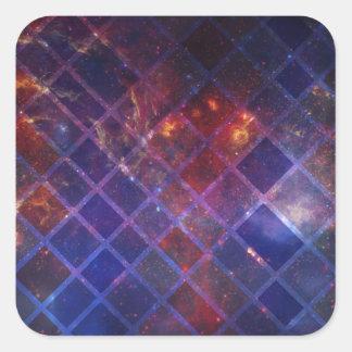 Sticker Carré Univers de bloc