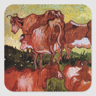 Sticker Carré Van Gogh effraye toujours l'art d'impressionisme