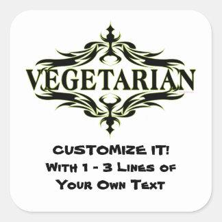Sticker Carré Végétarien personnalisé