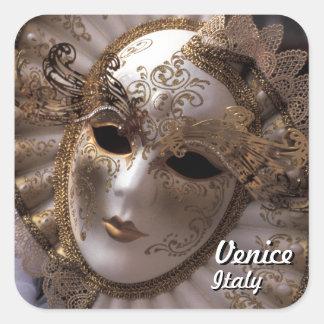 Sticker Carré Venise, Italie (IT) - masque mystérieux de