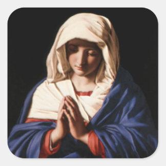 Sticker Carré Vierge Marie béni - mère de Dieu