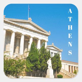 Sticker Carré Ville d'Athènes, Grèce