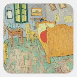 Sticker Carré Vincent van Gogh chambre à coucher de | Van Gogh