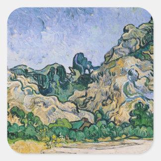 Sticker Carré Vincent van Gogh | l'Alpilles, 1889
