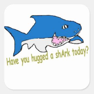 Sticker Carré Vous avez des sitckers étreints d'un requin