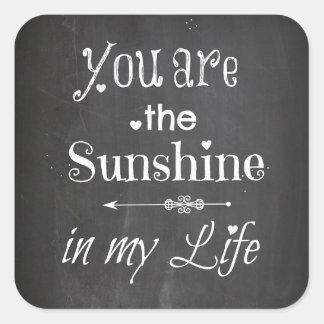 Sticker Carré Vous êtes les lettres de tableau de soleil