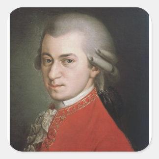 Sticker Carré Wolfgang Amadeus Mozart