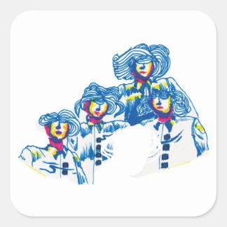 Sticker Carré wondercrowd-tentacules