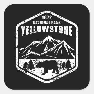 Sticker Carré Yellowstone                                      ,