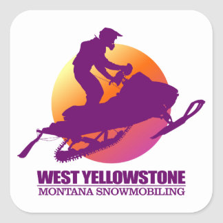 Sticker Carré Yellowstone occidental (SM) 2