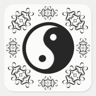 Sticker Carré Yin et Yang
