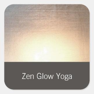 Sticker Carré Yoga moderne de lueur de zen et arts curatifs