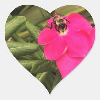 Sticker Cœur abeille