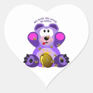 Sticker Cœur Abeille aimée par abeille aimable d'abeille d'ours