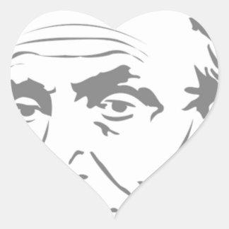 Sticker Cœur Abraham Lincoln